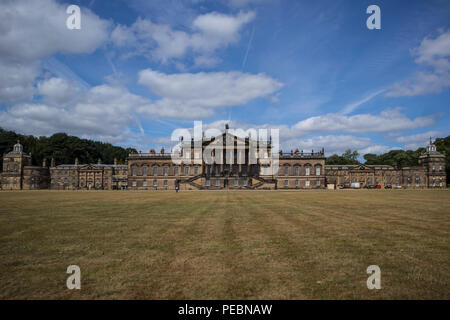The East front of Wentworth Woodhouse, a Grade 1 listed country house near Rotherham, in South Yorkshire, UK - Stock Photo