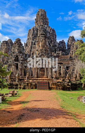 Entering The Bayon Temple Complex, Siem Reap, Cambodia - Stock Photo