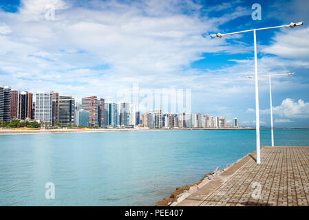 FORTALEZA, BRAZIL - MARCH 1, 2018: Coast Line of Fortaleza, Ceara State, city of northeast of Brazil . - Stock Photo
