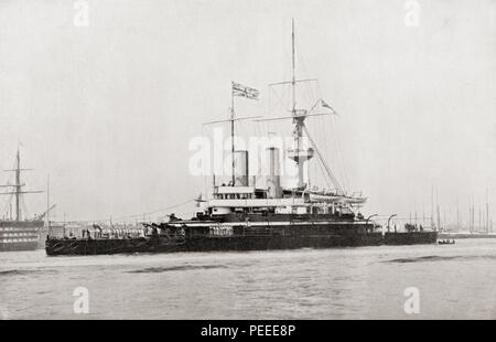 HMS Trafalgar.  From The Book of Ships, published c.1920. - Stock Photo