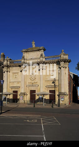 The Grade II listed Corn Exchange building in Kings Lynn, Norfolk, UK - Stock Photo