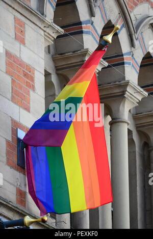Rainbow flag - Stock Photo
