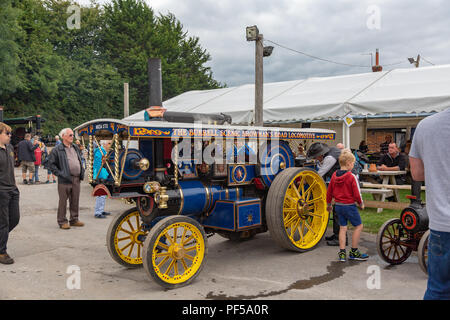 Steam Up, engines arriving for the Great Dorset Steam Fair, Blandford, Dorset, UK - Stock Photo