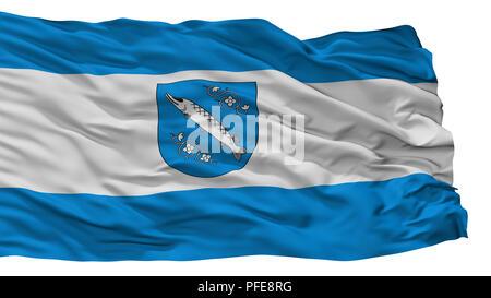 Rybnik City Flag, Poland, Isolated On White Background - Stock Photo