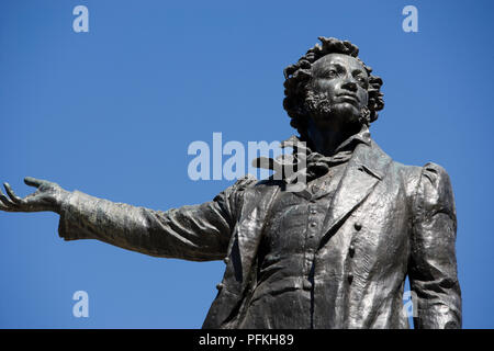 Russia, St Petersburg, statue of Alexander Pushkin - Stock Photo