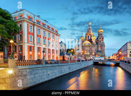 St. Petersburg - Church of the Saviour on Spilled Blood, Russia - Stock Photo