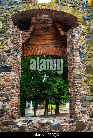 Stone ruins at the old part of the city in Colonia del Sacramento, Uruguay - Stock Photo