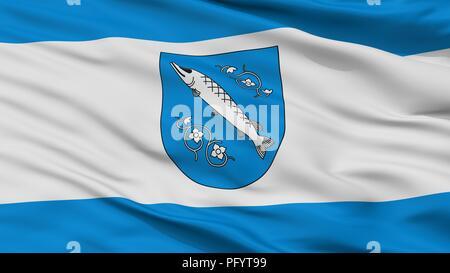 Rybnik City Flag, Poland, Closeup View - Stock Photo