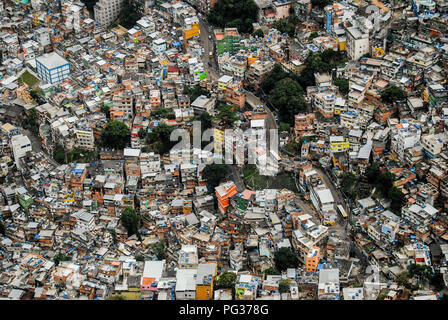 Rio De Janeiro, Brazil. 22nd June, 2013. A detailed view of Rocinha Slum in Rio de Janeiro.Rio de Janeiro is the fourth most populous city in South America with a population above 6 million people. Credit: Omar Marques/SOPA Images/ZUMA Wire/Alamy Live News - Stock Photo