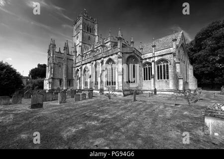 St Peter St Pauls church, Northleach town, Gloucestershire, Cotswolds, England - Stock Photo