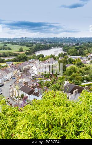 Cardigan in Pembrokeshire, Wales, UK - Stock Photo