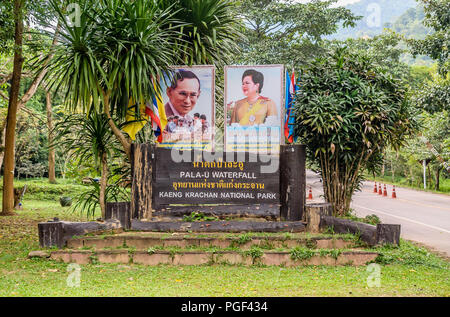 Entrance sign to Kaeng Krachan National Park, Thailand | Eingangsschild zum Kaeng Krachan Nationalpark, Thailand - Stock Photo