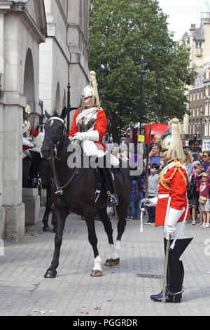 changing of the sentries at horseguards - Stock Photo