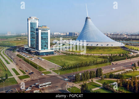 ASTANA, KAZAKHSTAN - JULY 4, 2016: Khan Shatyr- shopping and entertainment center - Stock Photo