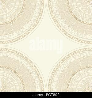 Round lace mandala seamless pattern.Texture for web, print, wallpaper, decals, fall winter fashion, textile design, invitation or website background,  - Stock Photo