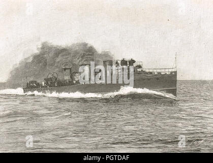 HMS Viper, Viper-class torpedo boat destroyer (or 'TBD') - Stock Photo