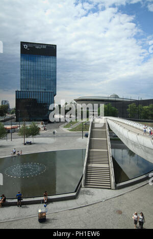 Downtown of Katowice - cultural zone - Stock Photo