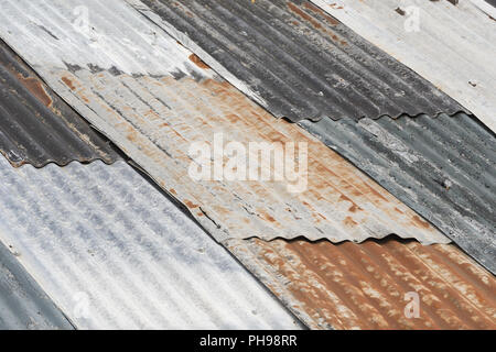 Old weathered corrugated metal - Stock Photo