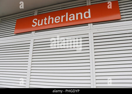 Sutherland train station, Sutherlandshire, NSW, Australia - Stock Photo