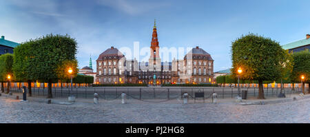Christiansborg palace in Copenhagen, Denmark - Stock Photo