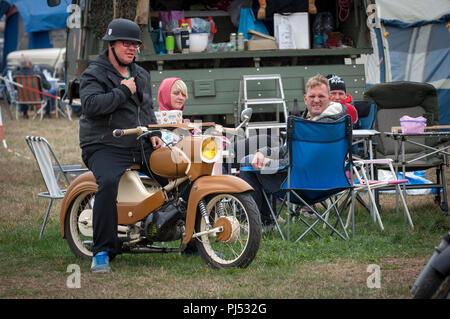 Nostalgia at the Zwickau Trabant Club annual rally in Zwickau, Saxony, Germany. - Stock Photo