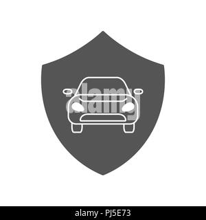 Automotive Car Shield Logo Design Template. Car insurance icon - Stock Photo