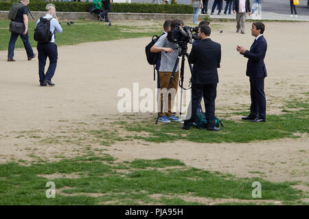 London, UK. - 5th September 2018: Greater Manchester mayor Andy Burnham performing one of a number of media appearances today after calling for an extension to EU-membership to avoid a no-deal Brexit. Credit: Kevin Frost/Alamy Live News - Stock Photo
