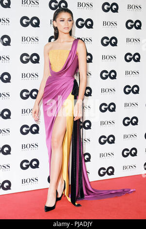 London, UK. 5th September, 2018. Zendaya at GQ Men of the Year Awards 2018 in association with Hugo Boss on Wednesday 5 September 2018 held at Tate Modern, London.  . Picture by Julie Edwards. Credit: Julie Edwards/Alamy Live News - Stock Photo