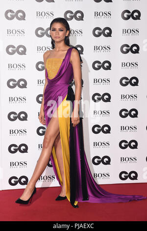 LONDON, UK. September 05, 2018: Zendaya at the GQ Men of the Year Awards 2018 at the Tate Modern, London Credit: Sarah Stewart/Alamy Live News - Stock Photo
