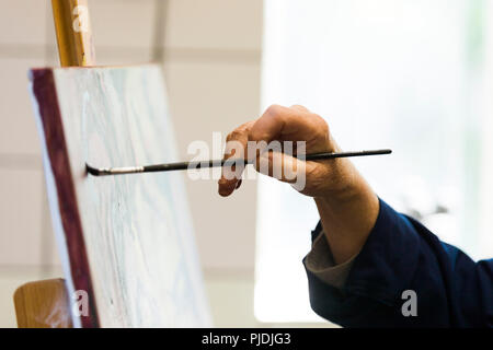 An artist technique as a demonstration for highly skilled workflow. - Stock Photo