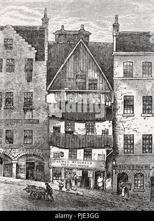 Mahogany Land in Potterow, Edinburgh, Scotland, 18th century - Stock Photo