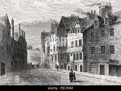 The Palace of Mary of Guise, Edinburgh, Scotland, 17th century - Stock Photo