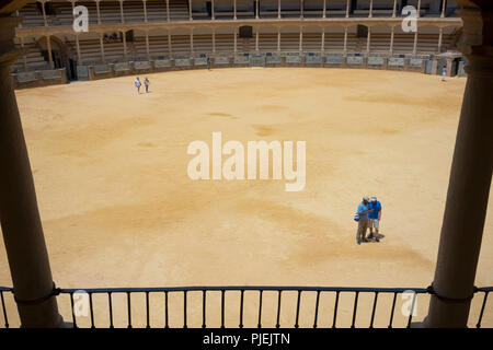 The Plaza de Toros de Ronda in Ronda, Spain, the first bullfighting ring built in 1779 and finished in 1785. - Stock Photo
