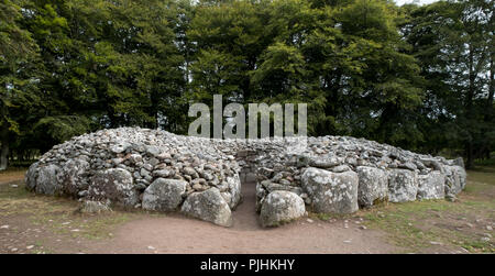 Inverness, Scotland, August 2018. Cava Cairns, well preserved bronze age burial site in the Highlands of Scotland. - Stock Photo