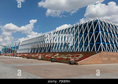 Astana, Kazakhstan, August 3 2018: The Palace of Independence building in Astana, the capital of Kazakhstan - Stock Photo