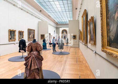 Gallery in the Palais des Beaux Arts, Lille, France - Stock Photo