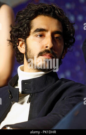 Dev Patel at 'Hotel Mumbai' Press Conference during 2018 Toronto International Film Festival at TIFF Bell Lightbox on September 8, 2018 in Toronto, Canada. - Stock Photo