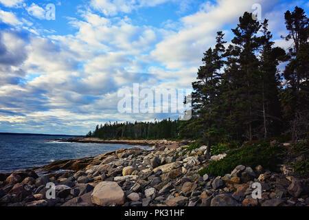Rocky Maine Coast - Stock Photo