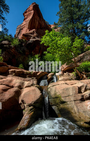 Kanarra Creek Canyon, Kanarraville, Iron County, Utah, USA - Stock Photo