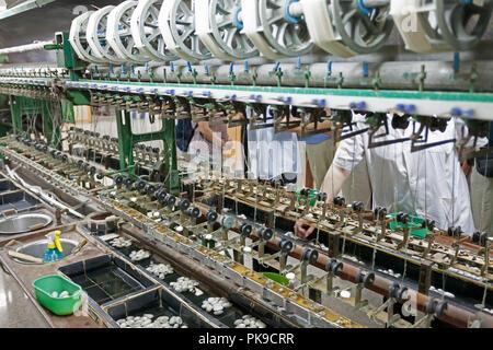 A famous silk factory & store Yuanlong Silk, Beijing, China. - Stock Photo