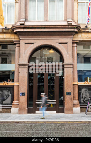 Frontage of The Beatles themed Hard Days Night Hotel on North John St Liverpool UK. - Stock Photo