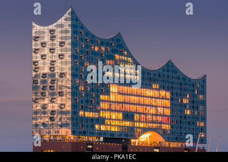 The Elbphilharmonie (Elbe Philharmonic Hall) is a concert hall in the HafenCity quarter of Hamburg, Germany, on the peninsula of the Elbe River. It is - Stock Photo