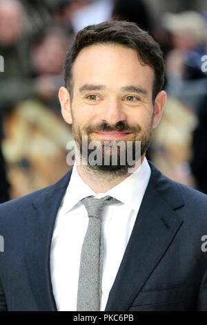 London, UK. 12th Sep 2018. Charlie Cox, King of Thieves - World Premiere, Leicester Square, London, UK, 12 September 2018, Photo by Richard Goldschmidt Credit: Rich Gold/Alamy Live News - Stock Photo