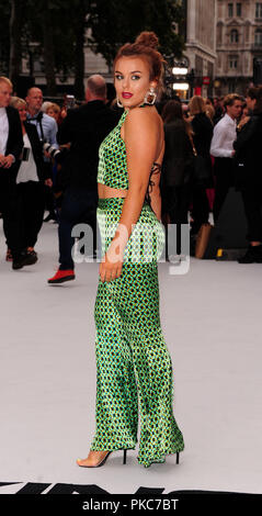 London, UK. 12th Sep 2018. Tallia Storm  attending The WORLD PREMIERE of KING of THIEVES  at The   Vue West  End  Leicester Square London 12th September 2018 Credit: Peter Phillips/Alamy Live News - Stock Photo