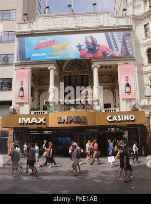 Empire Cinema Leicester Square London August 2018 - Stock Photo
