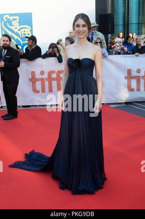 Taissa Farmiga attends the premiere of 'What They Said' during the 43rd Toronto International Film Festival, tiff, at Roy Thomson Hall in Toronto, Canada, on 12 September 2018. | usage worldwide - Stock Photo