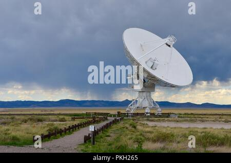 Very Large Array satellite dishes, New Mexico, USA - Stock Photo