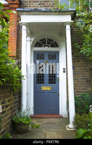 Detail of front of a Georgian house in Downshire Hill, Hampstead, London NW3, England, UK - Stock Photo