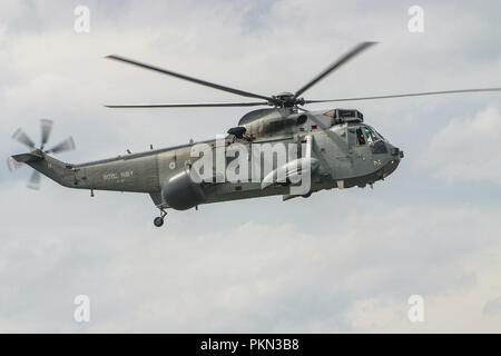 FILE IMAGE The Royal Navy Sea King ASaC MK 7 are to make a final flypast over the South West of England on the 18th September 2018 to Mark the end of forty nine years of service with the Fleet Air Arm 849 NAS have flown the Air Bourne Early Warning version of the Sea King since 1982 - Stock Photo