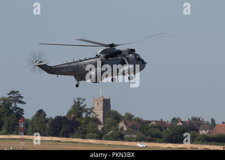 FILE IMAGE The Royal Navy Sea King ASaC MK 7 are to make a final flypast over the South West of England on the 18th September 2018 to Mark the end of forty nine years of service with the Fleet Air Arm 849NAS have flown the Air Bourne Early Warning version of the Sea King since 1982 Here is one of the final SEa Kings at RNAS Yeovilton during its Final Flyning Display at AIr Day/ - Stock Photo